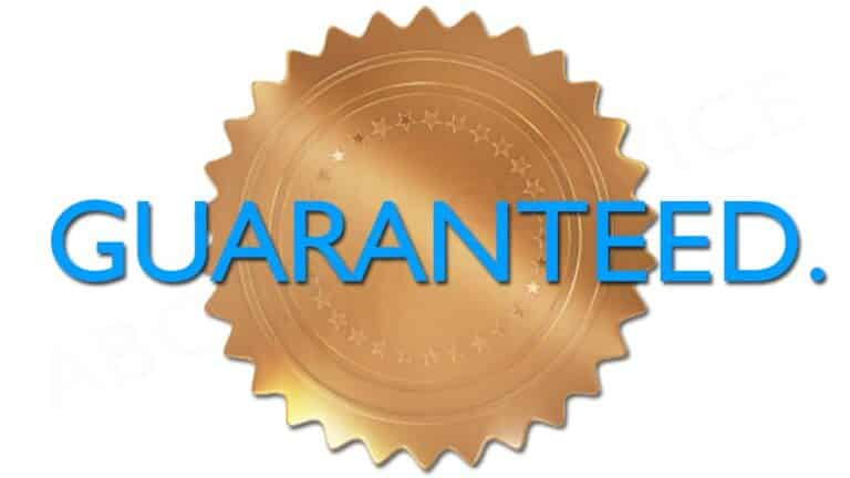 ABC Tax Service offers both a No-Error Guarantee and a Satisfaction Guarantee.